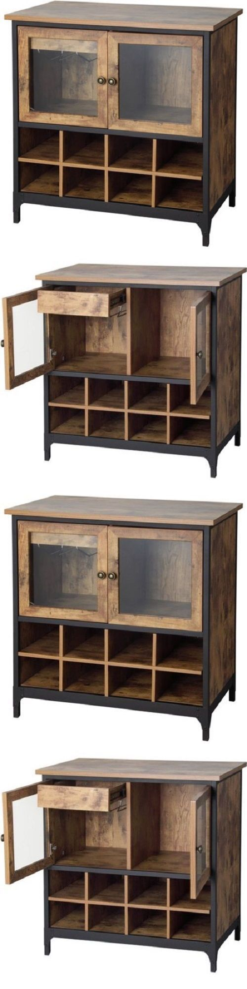 Sideboards and Buffets 183322: Sideboard With Wine Rack Buffet Table Rustic Dry Bar Furniture Cabinet Storage -> BUY IT NOW ONLY: $139.99 on eBay!