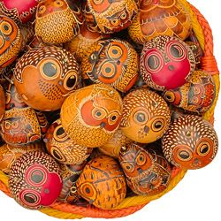 Owls Mix of 20 - Petite Gourds $165.00