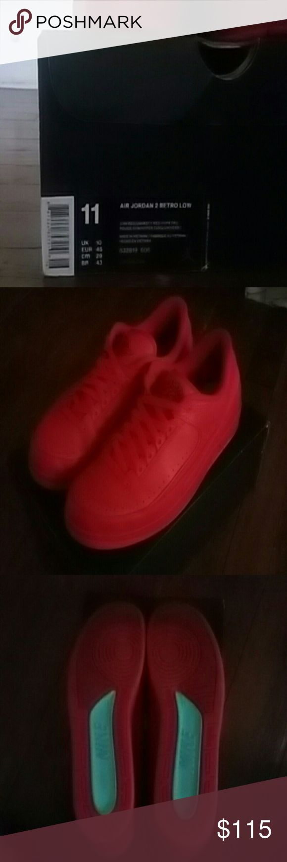 Jordan Retro 2 Low Size 11 Red October colorway with original box and original wrap!!! Gently worn. Throw an offer at me!! Jordan Shoes Athletic Shoes