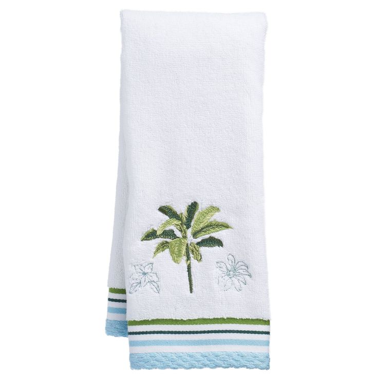 Destinations Tropical Palm Hand Towel, Green
