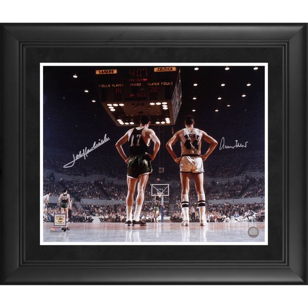 John Havlicek & Jerry West  Fanatics Authentic Framed Autographed 16'' x 20'' Boston Celtics vs. Los Angeles Lakers Photograph - $327.99