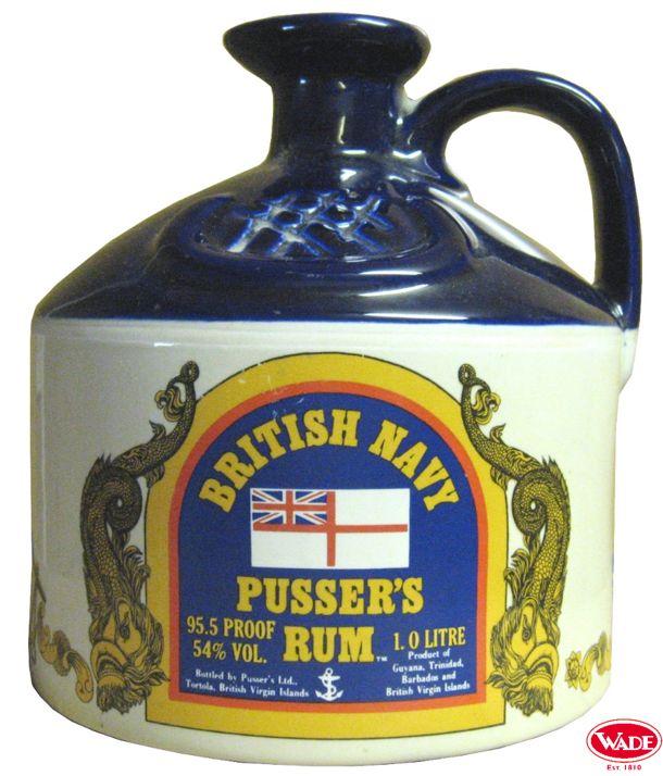 British Navy Pusser's Rum Ceramic Flagon. Tolle Geschenke mit Rum gibt es bei http://www.dona-glassy.de/Geschenke-mit-Rum:::22.html