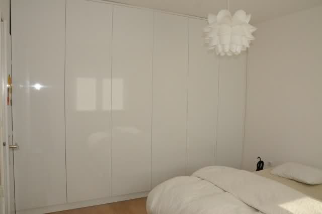 I have these cupboards! High gloss white would look SO much better than streaky mission brown :S