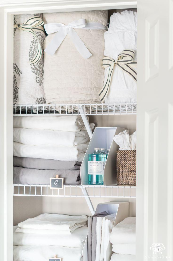 best 25 small linen closets ideas on pinterest a small organize a linen closet and bathroom. Black Bedroom Furniture Sets. Home Design Ideas