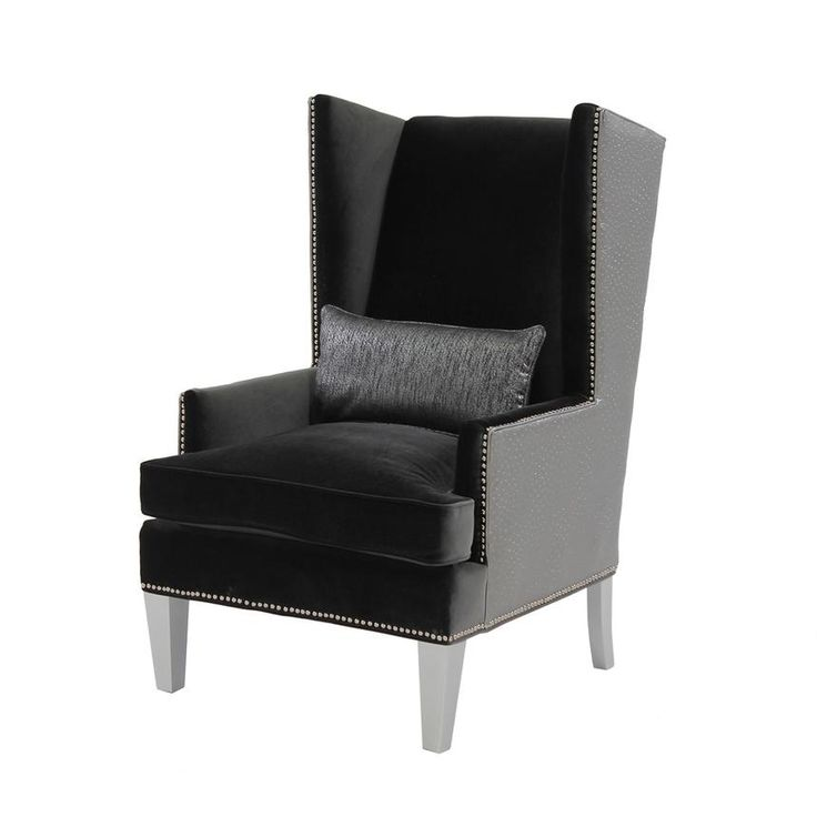 The Laura Dark Gray Accent Chair Takes An Update On The Classic Wing Back  Style Chair Silhouette. Find This Pin And More On El Dorado Furniture ...