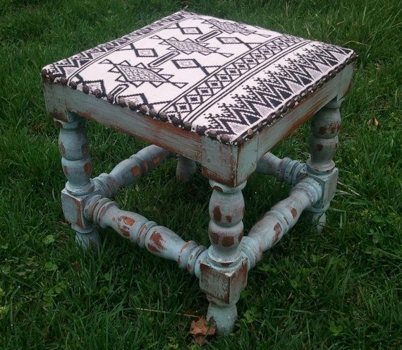 rustic turquoise stools - Google Search