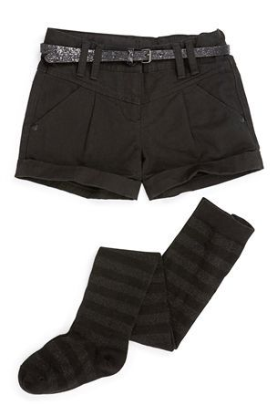 Buy Black SetShorts And Metallised Fibre Spot Tights (3-16yrs) from the Next UK online shop