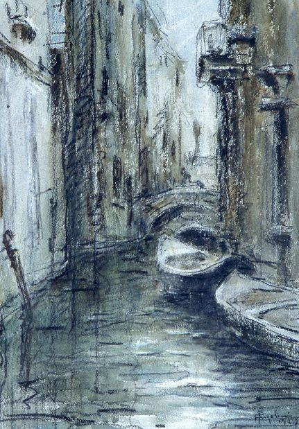 Angelini Pietro, Canale di Venezia, Galleria d'Arte Moderna Ricci Oddi, Piacenza