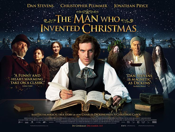 New Poster for Charles Dickens Biopic 'The Man Who Invented Christmas' - Starring Dan Stevens Christopher Plummer and Jonathan Pryce