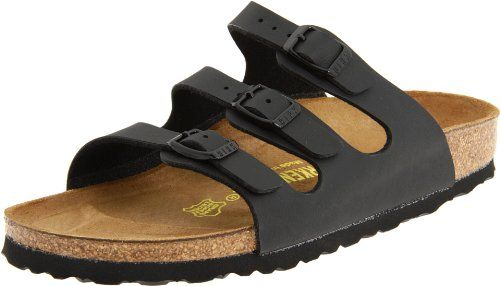 Triple-strap sandal in a variety of materials with fully adjustable straps and shock-absorbing EVA sole. Features Birkenstocks classic #suede-lined cork/latex fo...