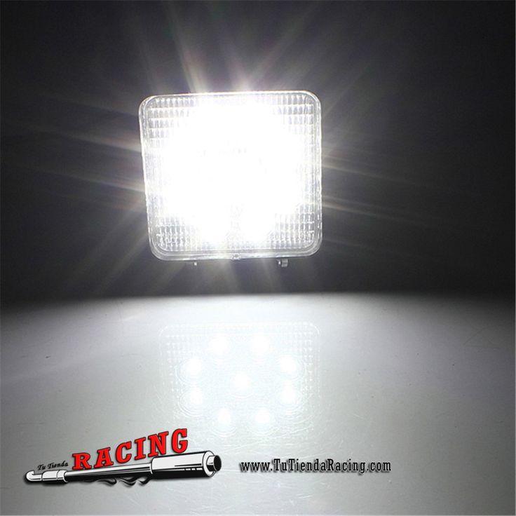 21,3€ - ENVÍO SIEMPRE GRATUITO - Faro Foco LED de 27W 9LEDs 6000K Antinieblas para 4x4 Coche TodoTerreno - TUTIENDARACING