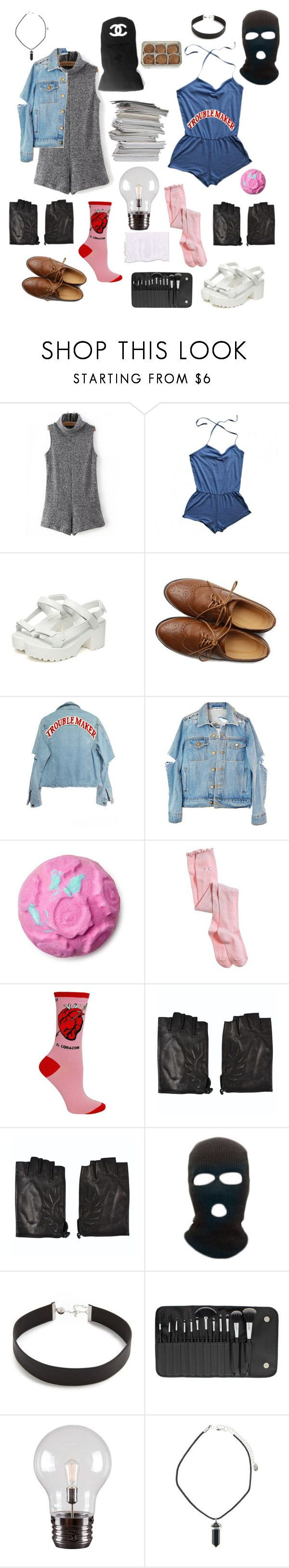 """Heathen summer"" by model-massacure ❤ liked on Polyvore featuring WithChic, American Apparel, NYMPHENBURG, Ollio, High Heels Suicide, Aerie, Belstaff, Chanel, Jennifer Zeuner and BHCosmetics"