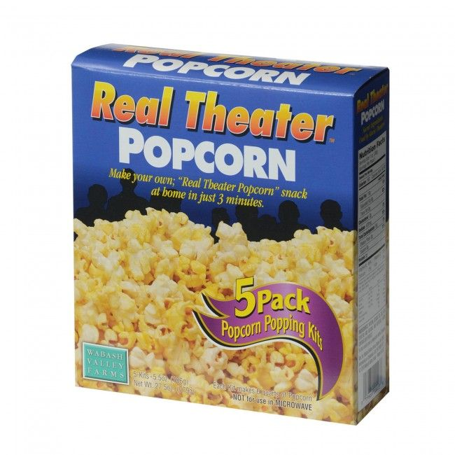 Everything needed to make great tasting popcorn just like that found in movie theatres is included in these one step easy to use pouches: gourmet popcorn, popping oil, and seasoning. All ingredients are pre-measured for convenience and consistent results.