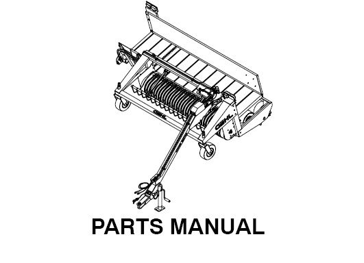 Download Complete Parts Manual for Gehl 2109 Windrow
