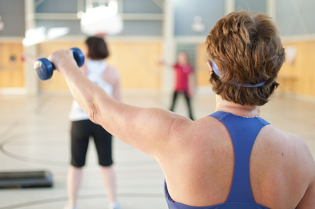 Dumbbells are a great way to strengthen your arms, abdomen and back muscles at the YMCA of Parry Sound