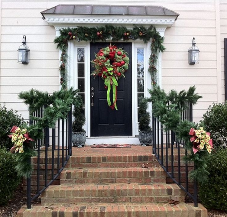 Christmas Decorations Outdoor Ideas Railing Front Porch ...