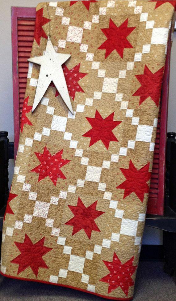Midwinter Stars Quilt Kit by myreddoordesigns on Etsy, $110.00