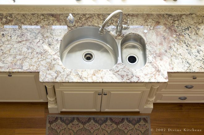 Give Your Garbage Disposal Some TLC  Why: Waste particles collecting on your blades and inside the drain can get stinky or even clog your disposal.  How: Pour a cup of vinegar into an ice cube tray and freeze it, then throw all the vinegar cubes into the disposal and turn it on. The cubes scrub the blades and drain, while the vinegar dissolves the scum.  When: Two or three times a year.