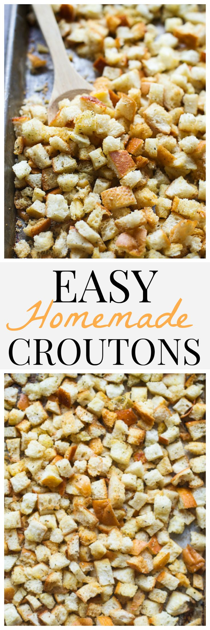 Easy Homemade Croutons - Never buy store-bought again!