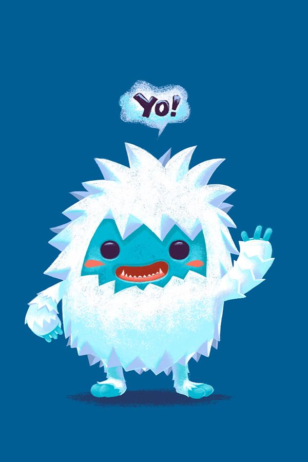 YO! Yeti! by Alongkorn Sanguansook, via Behance