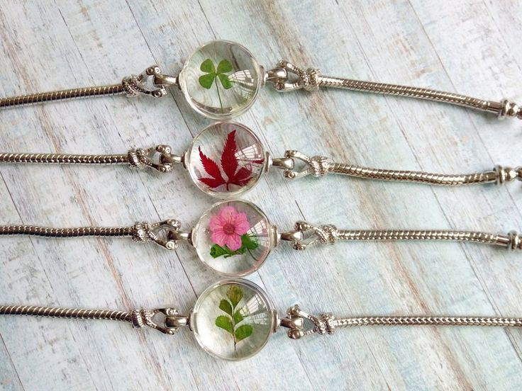 Real flower bracelet, gift for woman, real plant jewelry – annys-workshop – Bracelets