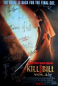 KILL BILL Vol. 2 (2004) movie poster cast signed