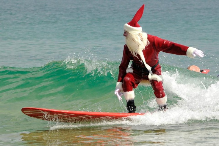 Santa even catches a break in #NOOSA during the festive season |Visit Noosa