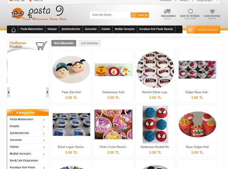 www.pasta9.com Pasta malzemeleri, kurabiye siparişi, doğum günü süsleri