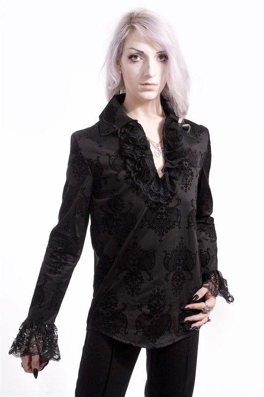 Rüschenhemd Gothic Flock Ruffle Lace Shirt