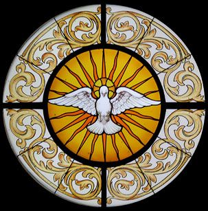 The Holy Spirit, love the design ~ St. Mary's Roman Catholic Oratory, Wausau Wisconsin
