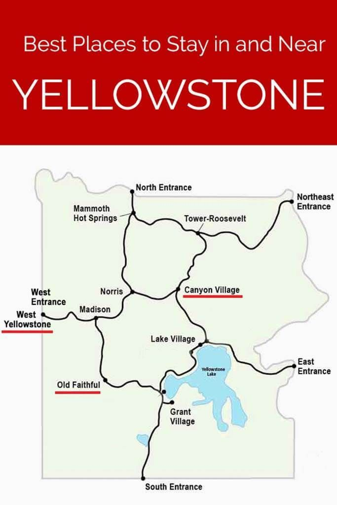 Best places to stay in Yellowstone National Park and outside the park