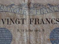 BILLET DE 20 FRANCS DE 1904 POUR NUMISMATE