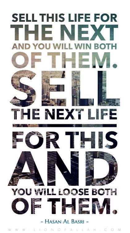Don't sell your next life.
