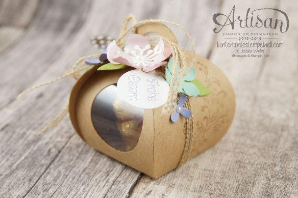 Stampin Up!  - Artisan Design Team - Easter Egg Hunt - decorative box for souvenirs - Botanical Flowers - 8