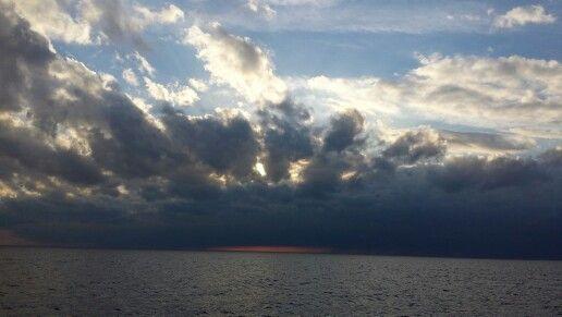 Ijsselmeer dark cloudes.