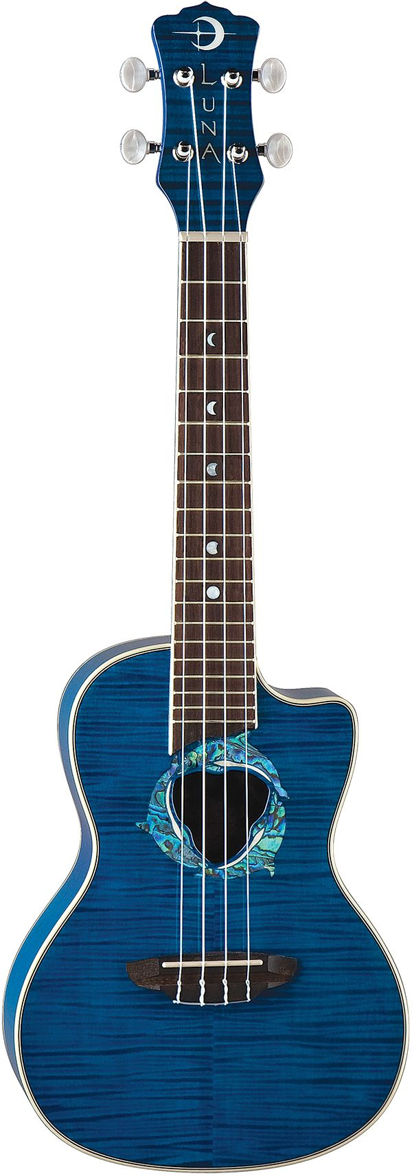Deb: Luna Dolphin ukulele. I got this used at Watermelon Music in Davis, CA $199.99  This is my Ukulele #2