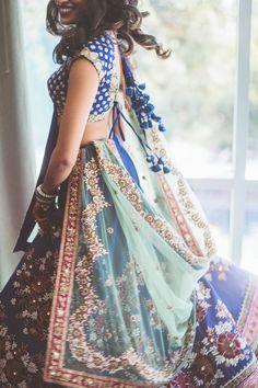 Modern Indian wedding sari