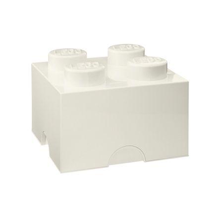 Plast Team LEGO Storage Brick 4 - väri valkoinen