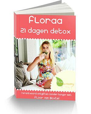 Het Floraa 21 dagen detox programma werkt voor iedereen. Door 21 dagen te detoxen, is ontgiften veilig en geef je je lichaam een echte boost! + 60 recepten!