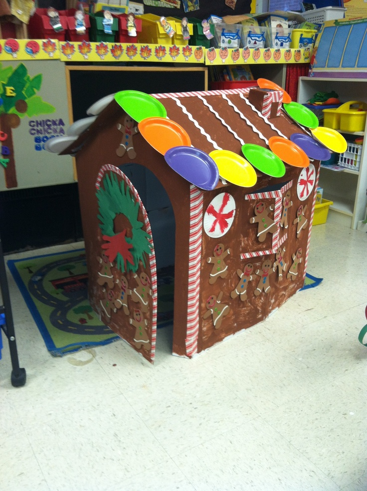 Life size gingerbread house for Kindergarten :)