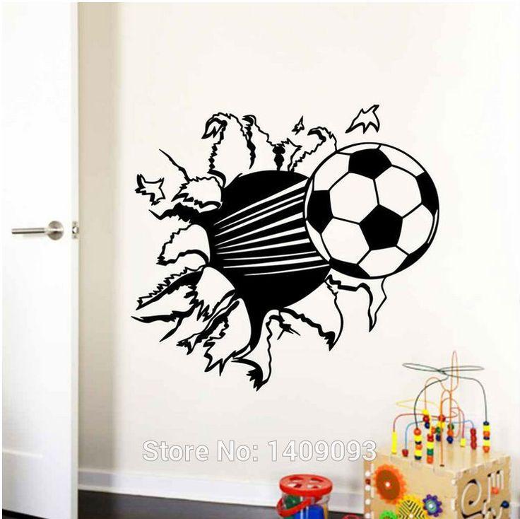 Pegatinas-de-pared-Para-Niños-Habitación-Pegatinas-3D-Fútbol-Tatuajes-de-Pared-Niños-Dormitorio-Mural-Arte.jpg (750×748)