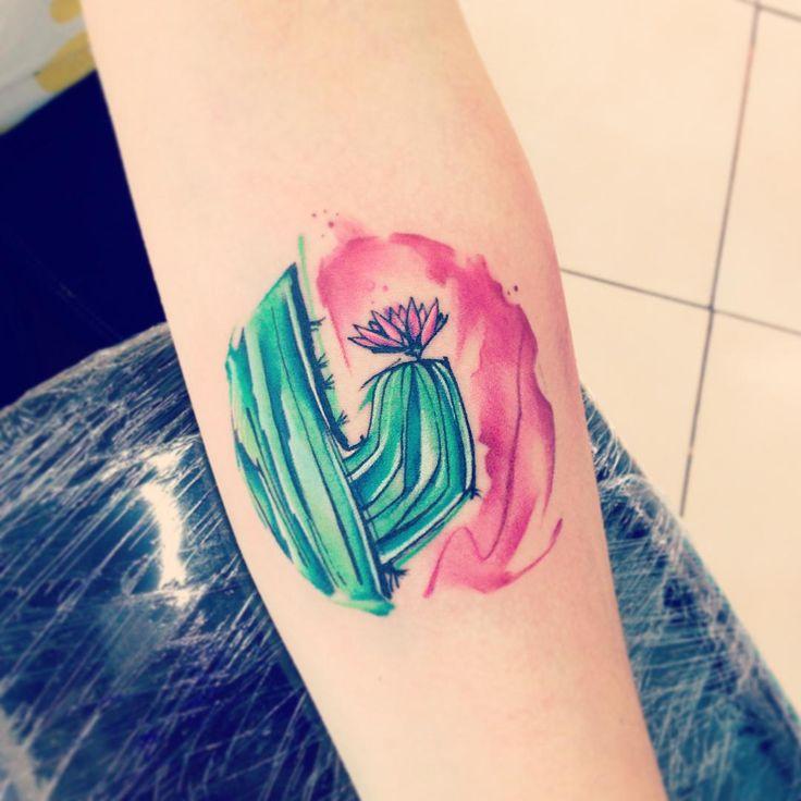 Cactus AB #tattoo #tatuaje #cactus #flordecactus #natural #colors