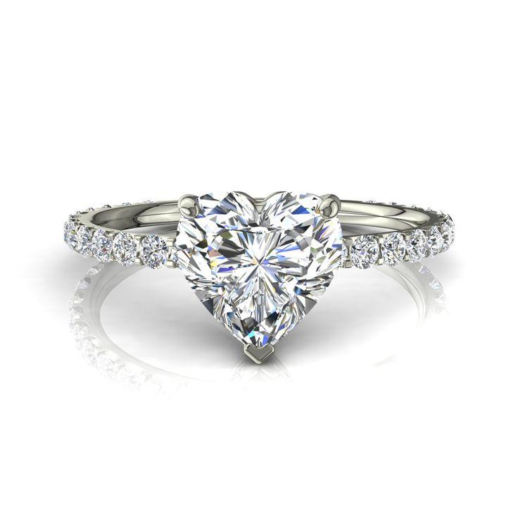 Bague de fiançailles pour femme solitaire bague diamant coeur 0,80 carats or blanc Valentine-coeur  #diamants #capucine #PendentifDiamantPrincesseAura #BagueDiamantRond #PendentifDiamantElena #bouclesd #Solitaire4Griffes #PendentifDiamant #diamantsetcarats #BagueDeFiancaille