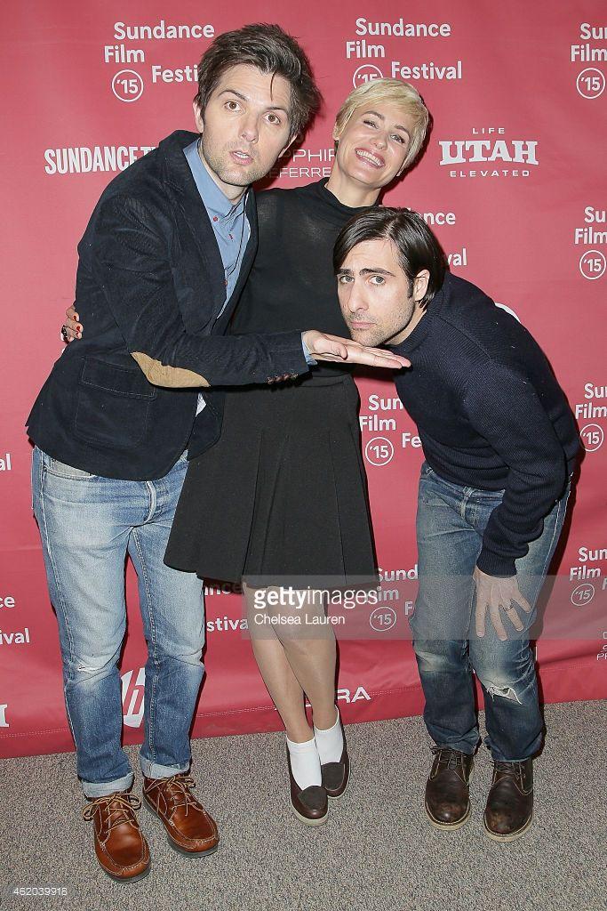 Photo d'actualité : Actors Adam Scott, Judith Godreche and Jason...