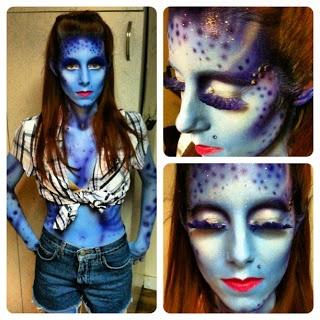 alien/space costume makeup