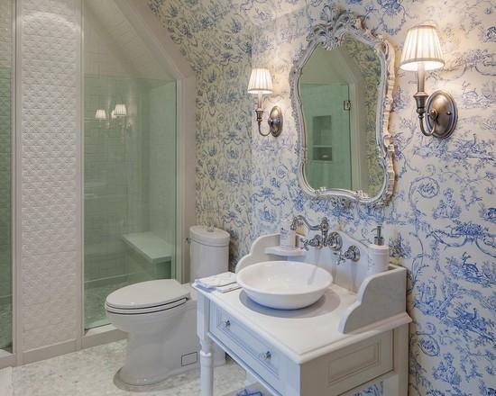 espelho, papel de parede, móvel