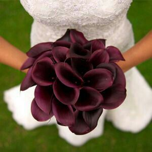 Gorgeous Bridal Bouquet Composed Of Purple Calla Lily~~