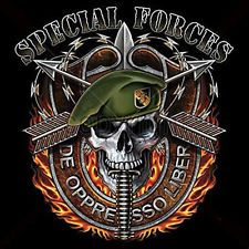 professional special forces expert patches military | Military T-Shirt Skull With Flames De Oppresso Liber Tee Special ...