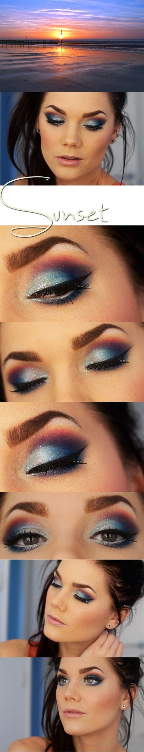 sunset makeup - I don't know if I like this one....