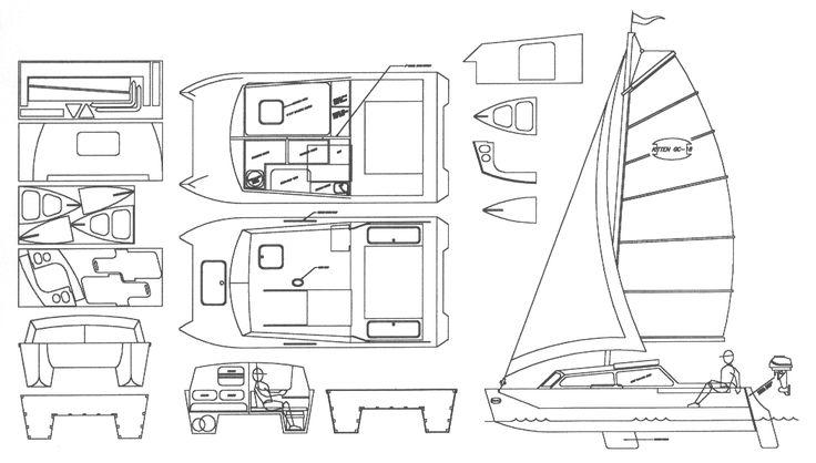 Kitten-18 catamaran plans Mais